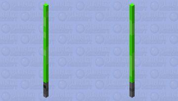 Green lightsaber (hand may get burnt) Minecraft Mob Skin