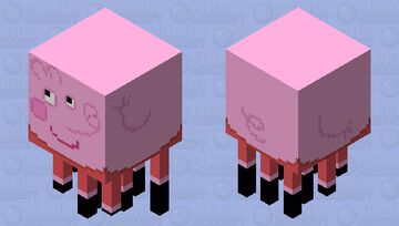 Peppa Pig Ghast Minecraft Mob Skin
