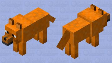 Orange Wolf Minecraft Mob Skin