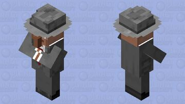 1920s/30s Suit Villager (Colored, Hat) Minecraft Mob Skin