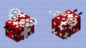 Angry Swiss bee Minecraft Mob Skin