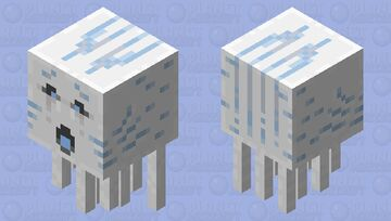 Blue Ghast/Soul Fire Ghast [Firing] Minecraft Mob Skin