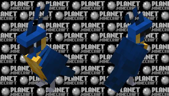 Blue-throated Macaw Minecraft Skin