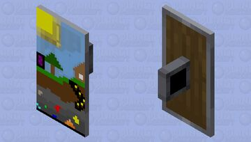 a over world home (pixel art) Minecraft Mob Skin