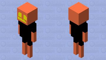 pumpkin skeleton Minecraft Mob Skin