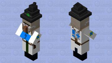 TF2 BLU Medic Witch Minecraft Mob Skin