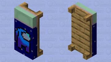 Among Us Blue Player Bed Minecraft Mob Skin
