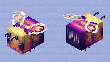 SpellBloom Enchanted Forest Bee Minecraft Mob Skin