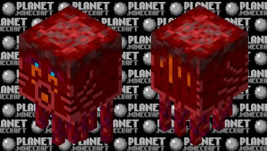 Crimson ghast shooting Minecraft Skin