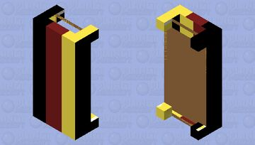 German flagged style bed Minecraft Mob Skin