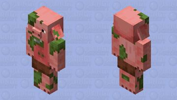 the Zombie PigMan/Piglin from Fallen Kingdom Minecraft Mob Skin