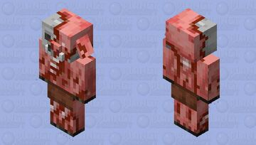 If the old pigman texture was still here (zombified piglin) Minecraft Mob Skin