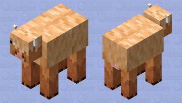 Wooly cow Minecraft Mob Skin