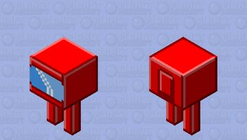Red crewmate Minecraft Mob Skin