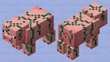 Vine Covered/Jungle Pig Minecraft Mob Skin