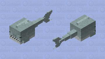 Guardian shark Minecraft Mob Skin