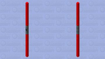 Double Sided Red Lightsaber Minecraft Mob Skin