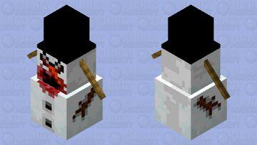 Evil Snow Golem Minecraft Mob Skin