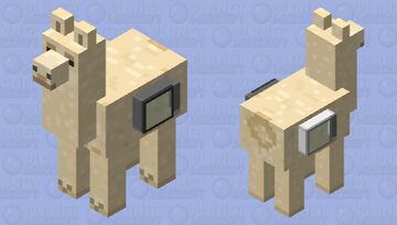 Microwave Llama. Minecraft Mob Skin