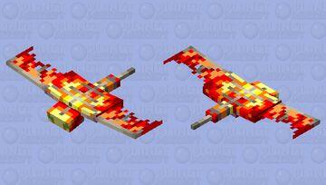 Raging fire Minecraft Mob Skin