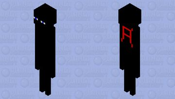 Ender Man With AhnafPlayz Merch On The Back Minecraft Mob Skin