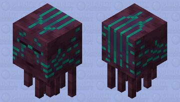 Warped Forest Ghast Minecraft Mob Skin