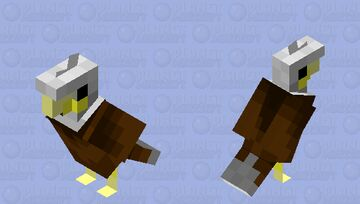Bald Eagle parrot Minecraft Mob Skin