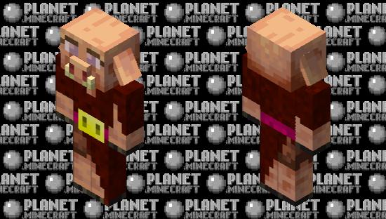Cute Piglin Minecraft Skin