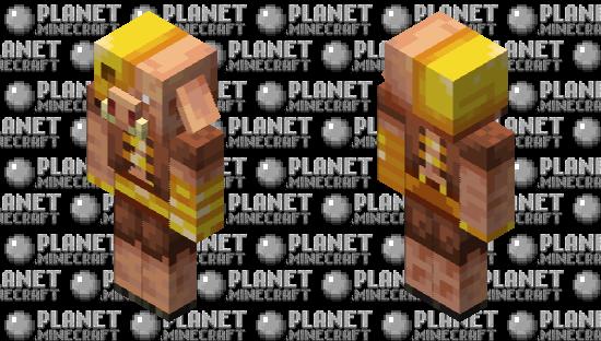 Golden Piglin Minecraft Skin