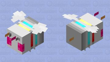 Cyber-Bee (CE) Minecraft Mob Skin