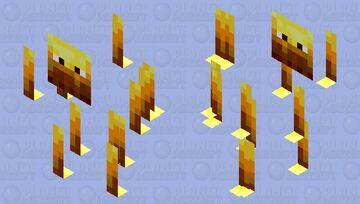 Paper Blaze Minecraft Mob Skin