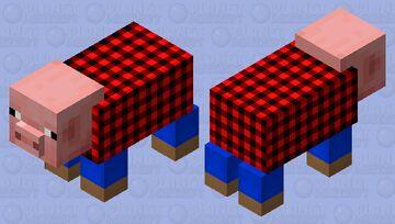 Pig in Flannel Minecraft Mob Skin
