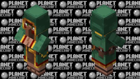 Green Wandering Trader Minecraft Skin