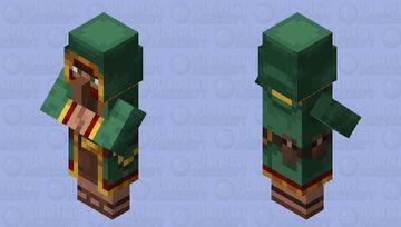 Green Wandering Trader Minecraft Mob Skin