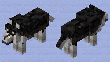 Black husky (brown eyes) Minecraft Mob Skin