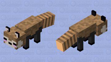 Red Panda statue Minecraft Mob Skin