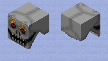 The Feisty Disembodied Skull (Shooting) Minecraft Mob Skin
