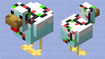 Festive Chicken Minecraft Mob Skin
