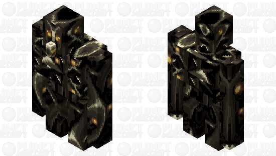 Melodic Black-Death Iron Golem From the Core Minecraft Skin