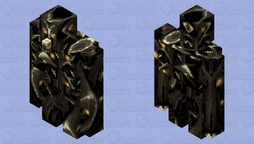 Melodic Black-Death Iron Golem From the Core Minecraft Mob Skin