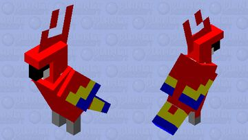 Colorful Parrot Minecraft Mob Skin