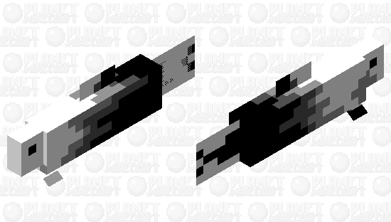 White-Black Fish Minecraft Skin