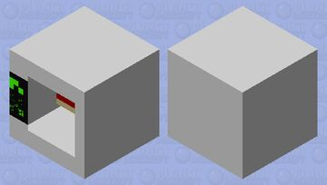 Microwave with a hamburger!!! Minecraft Mob Skin