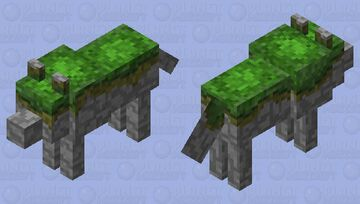 Mossy Golem Wolf Minecraft Mob Skin