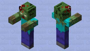 Realistic zombie Minecraft Mob Skin