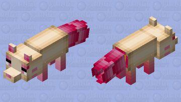 Lotus Root Fox Minecraft Mob Skin