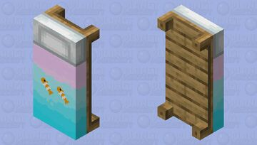 Fishy Bed Minecraft Mob Skin