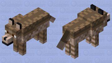 Striped Brown Wolf Minecraft Mob Skin