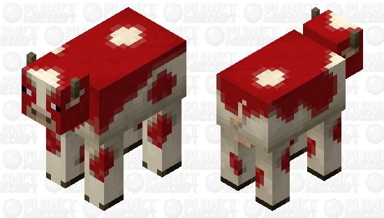 red mooshroom cow Minecraft Skin