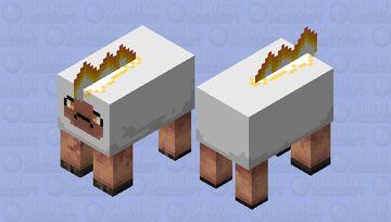 Fire sheep Minecraft Mob Skin